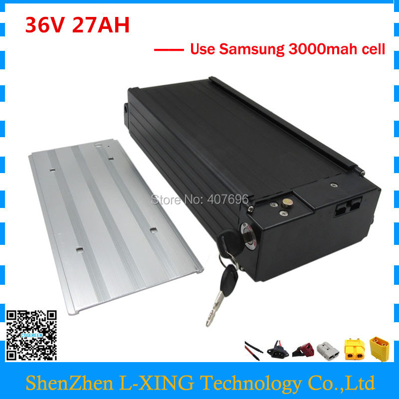 Free customs fee 1000W 36V 27AH E-bike battery 36V 27AH lithium 18650 battery pack with use samsung 3000mah cell 30A BMS free customs taxes electric bike 36v 40ah lithium ion battery pack for 36v 8fun bafang 750w 1000w moto for panasonic cell