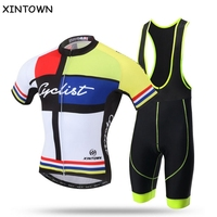 XINTOWN Bicycle Clothing Cycling Jersey Bike Cyclist Clothes Team (bib) Shorts Kit Maillot Roupa Ropa De Ciclismo Short Sleeve