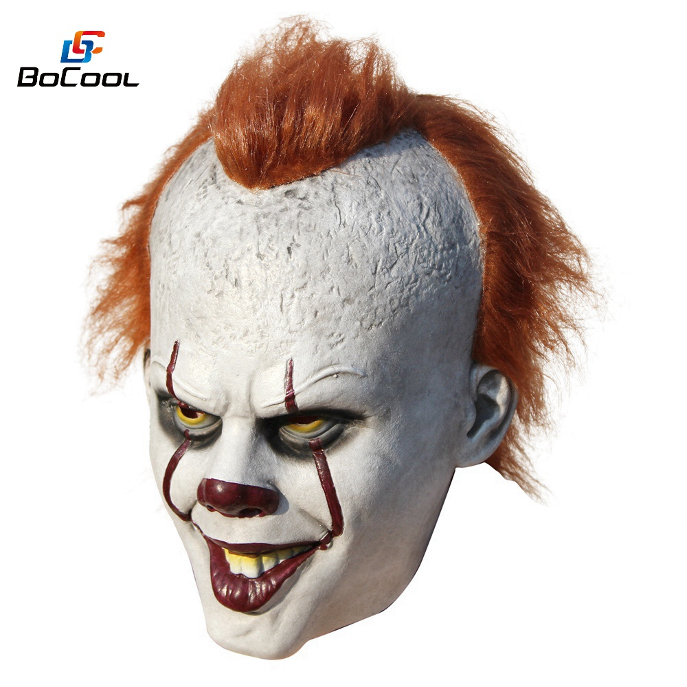 Halloween Bettwäsche Stephen King S It Pennywise Mask Latex Halloween Scary Mask Cosplay Clown Party Mask Prop