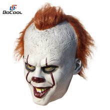 Stephen King's It Pennywise maska lateksowa straszna maska na halloween Cosplay Clown maska na przyjęcie Prop(China)