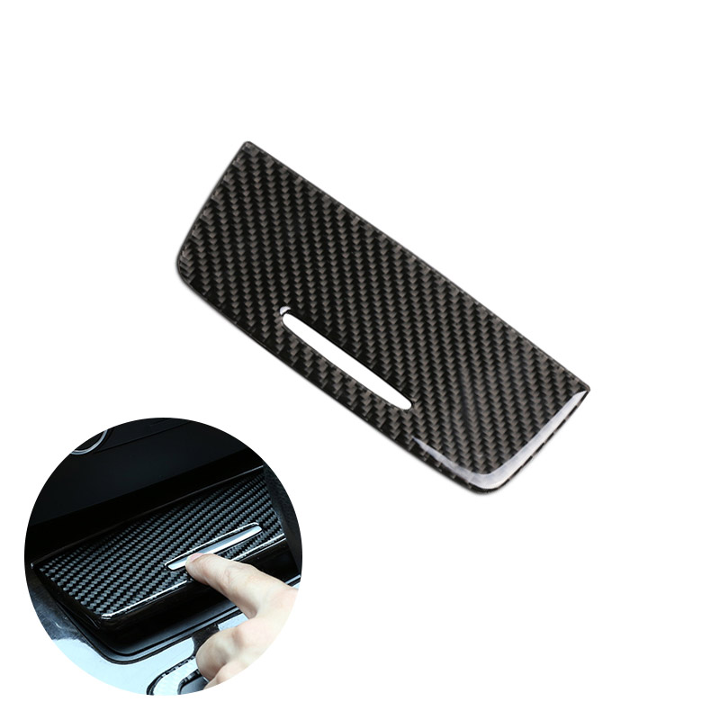 For BMW 3 Series E90 E92 E93 2005   2009 2010 2011 2012 Carbon Fiber Car Interior Center Control Cigarette Lighter Cover