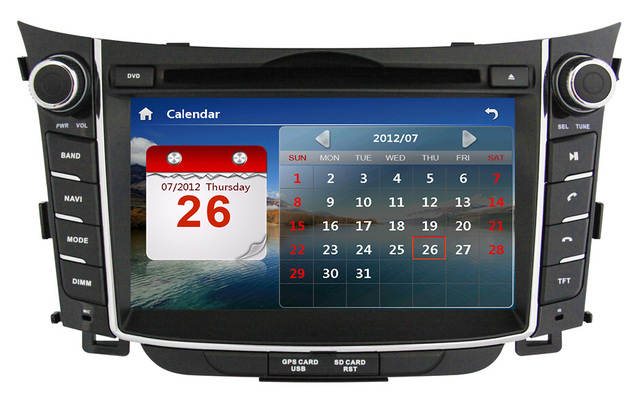 2 Din 7 inch Car DVD Player for HYUNDAI I30 2011 2012 2013 with GPS Navigation Bluetooth TV Radio USB Car Head Unit Free map