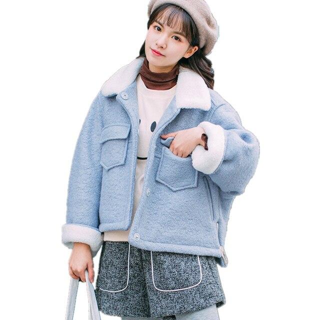Manteau court femme hiver laine
