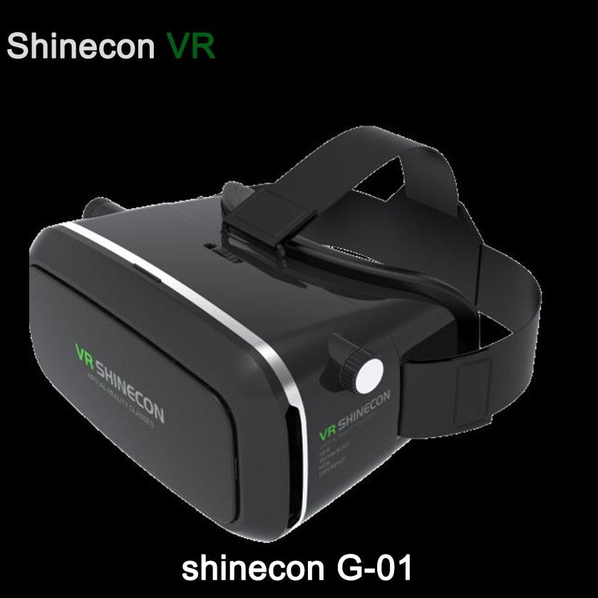 New Shinecon1.0 G-01 VR Binocular Immersive 3D Virtual Reality Glasses Headset Immersive Helmet Box Head Mount For 5.5-6 phone