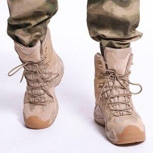 Image 5 - Botas tácticas militares para hombre, zapatos de senderismo impermeables para exteriores, zapatillas antideslizantes, calzado deportivo para escalada