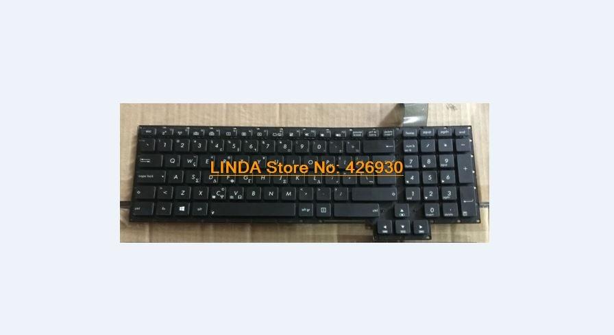 New for Asus G750JM G750JS G750JW Keyboard Thai No Backlit Board