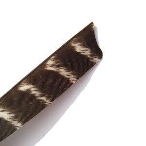 """Image 5 - 50 pçs seta com arco e flecha penas fletches 5 """"natural turquia fleetching palhetas seta da asa direita diy ferramentas caça tiro acessórios"""