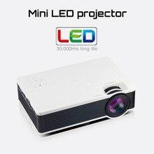 Inteligente Airplay Miracast WIFI Apoyo Externo HD de Cine En Casa LCD Juego de Video LED Mini Proyector HDMI USB portátil Para El teléfono pad