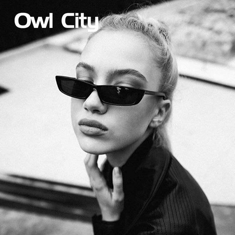 HTB1Tq8AhgLD8KJjSszeq6yGRpXaK - Vintage Rectangle Sunglasses Women Brand Designer Small Frame Sun Glasses Retro Black Eyewear