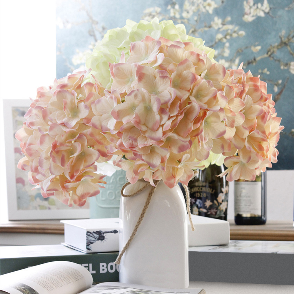 New fake flower home desktop decor pompom silk flowers bouquet new fake flower home desktop decor pompom silk flowers bouquet hydrangea artificial plastic flowers for cafe party wedding decor in artificial dried izmirmasajfo