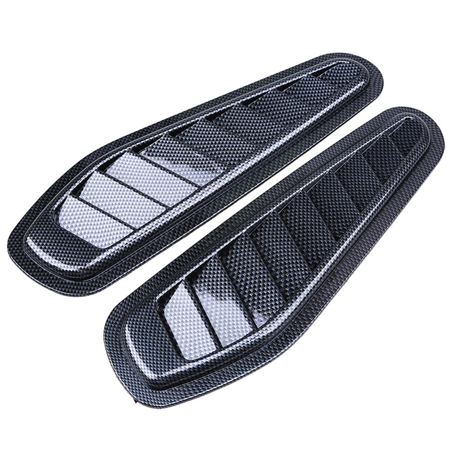 Car Side Carbon Fiber Decorative Air Vent Fender Cover Hole Intake Duct Flow Grille Decoration Sticker Ca-styling Accessories epr car styling for nissan z33 350z nismo carbon fiber front bumper duct air intake