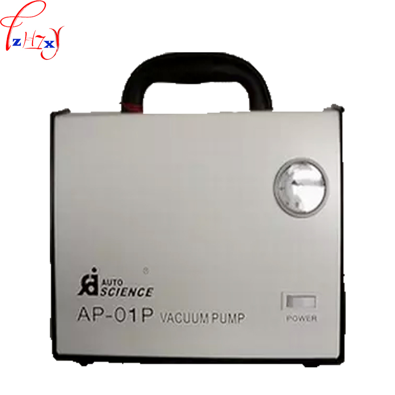 Oil-free diaphragm vacuum pump AP-01P laboratory liquid no oil vacuum pressure pump suction filter pump 220V free shipping 220v ac gz35b 220 70l min vacuum flow diaphragm vacuum pump with 100w power oil free double heads vacuum pump