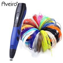 Original Aveiro-800A 3D drawing pen 1.75mm ABS Smart 3 d printing pens with Filament LED Display for the Kids Birthday gifts
