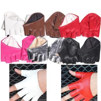 Różne fajne modne damskie modne obcisłe pół palmowe rękawiczki imitacja skóry wielokolorowe tanie i dobre opinie Stałe Dla dorosłych Shu Embroidery Nadgarstek Moda Kobiety Skóra syntetyczna