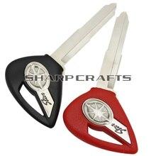Black / Red Motorcycle Blank Key Uncut Blade For YAMAHA Dragstar V-Star DS400 DS650 XVS400 XVS650 XV1900 XVS1300 XVS950