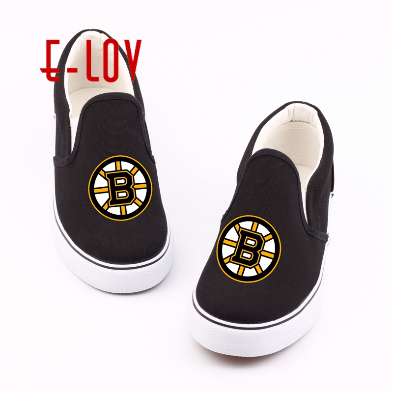 E-LOV Customized Women Casual Loafers DIY Printed Canvas Shoes Flat Oxford Shoes Unique Design Espadrilles for Valentine Gifts e lov hand painted casual canvas shoes diy custom graffiti animals flat shoe women oxford shoes sapatos feminino