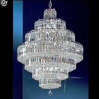 Люстры маленький хромированный Хрустальный подвесная люстра миниатюрный домашний светильник D65cm x H88cm