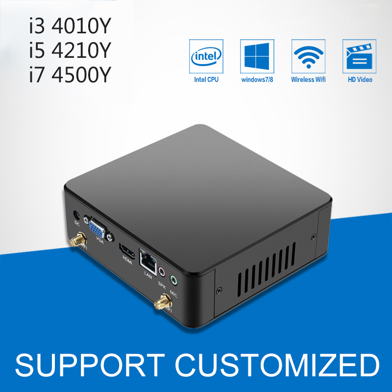 Mini Computer Windows 7 DDR3 RAM Mini PC Desktop CPU Core i3 4010U i5 4210Y Intel Processor HTPC Komputer TV BOX 4*USB BT4.0 beelink z83 ii mini pc tv box with intel atom x5 z8350 processor cpu tv box 2g 32g memory support windows 10 and linux system