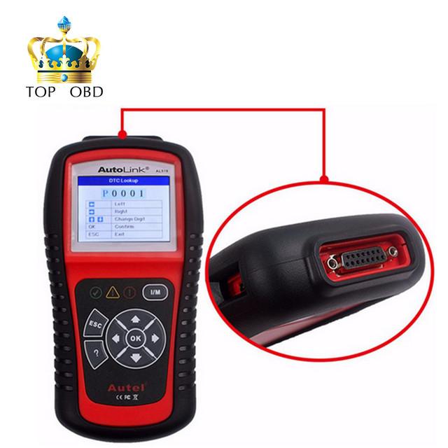 100% Original OBD2 Escáner Lector de Código de AUTEL AutoLink AL519 para Todos Los OBD2 EOBD JOBD Coches Escaner AUTEL Escáner AL519