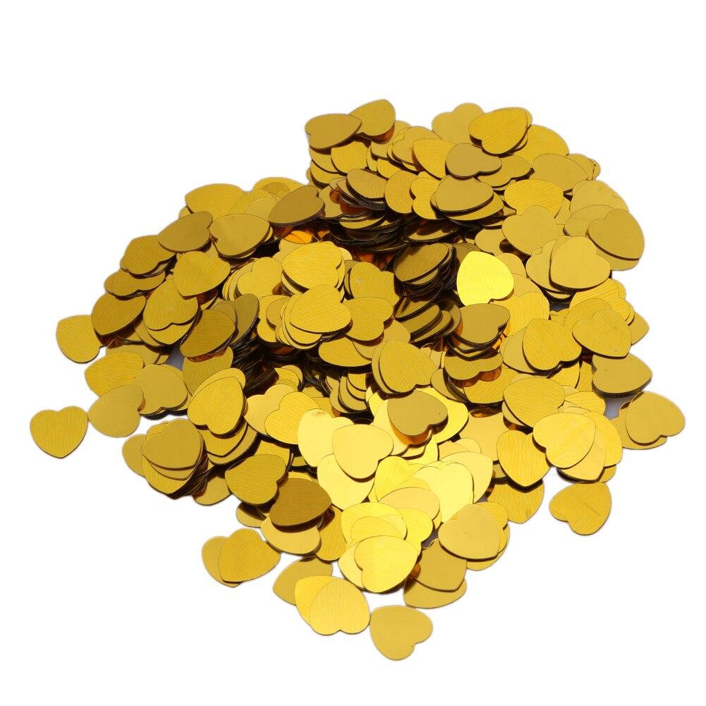 2000pcs 10mm gold shine sparkle heart wedding party confetti table decoration bachelorette party decorative supplies - Gold Decorations