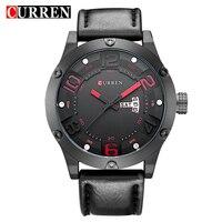 Curren Fashion Casual Quartz Watch Men Top Brand Luxury Leather Strap Analog Sports Military Wrist Watch