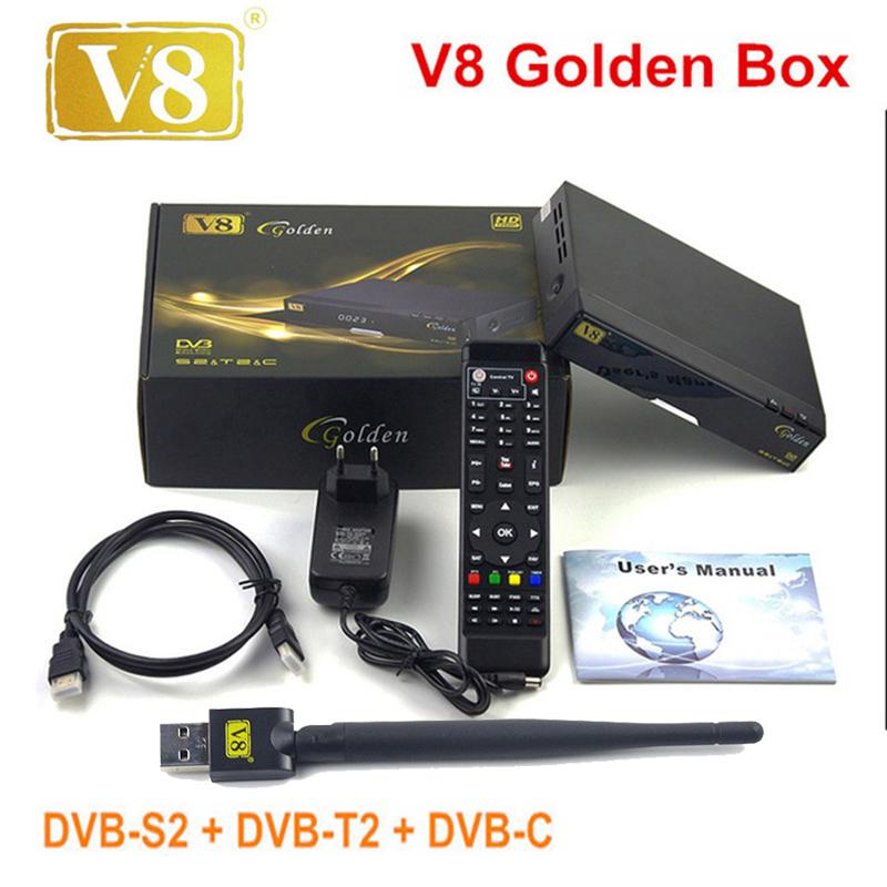 Prix pour D'origine Freesat v8 or + powervu boîte IPTV V8 or dvb t2/s2/c mis à jour openbox V8 Pro Combo Récepteur Satellite set top box