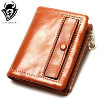 Wallet Women Genuine Leather Wallet Holder Bestselling New Short Wallet Women S Double Zipper Coin Purse