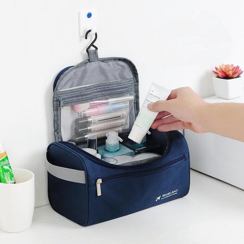 Casual Men Hanging Big Cosmetic Bag Business Makeup Case Women Travel Make Up Zipper Organizer Storage Pouch Toiletry Wash Bath