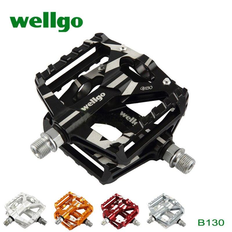 1Pair Aluminum Pedals Trekking MTB Bike Pedal 2 DU Bearing Wellgo B130 New