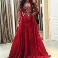 Impresionante Crystal Mujer Árabe Vestido de Noche Por Encargo de Medio Oriente Mujeres Vestidos de Fiesta 2017 Elegante Vestido Formal Vestidos Kaftan