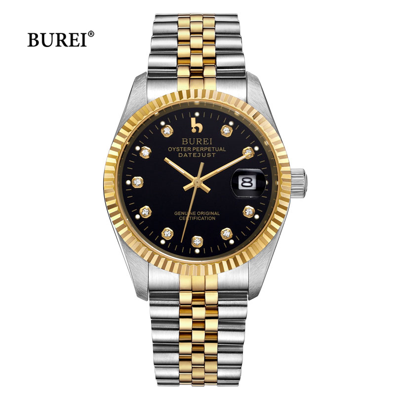 BUREI Watches Men Automatic Mechanical Watch Relogio Masculino Military Wrist Watch Clock Men Business Watch Reloj Hombre 2017 mens watches top brand luxury mechanical watch men s waterproof military automatic wrist watch clock men hours 2017 reloj hombre