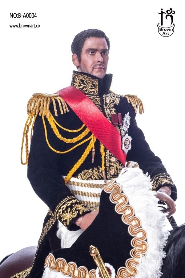 Brown Art 1//6 Scale B-A0004 Napoleon Series Marshal of France red ribbon Model