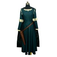Women Princess Merida Adult Costumes Brave Merida Cosplay Dresses Film/Movie Party Halloween Costumes Custom Plus Size