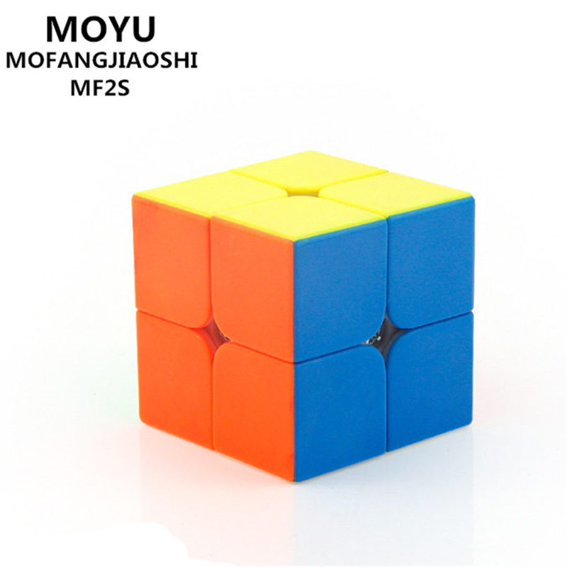 MOYU MF2S mofangjiaoshi 2X2X2 MAGIC CUBE SPEED POCKET STICKER 50 MM PUZZLE CUBE PROFESSIONAL UTBILDNING rolig leksaker för barn
