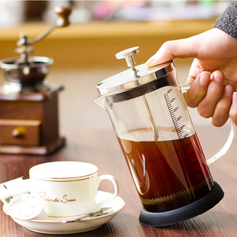 Coffee Maker French Hand Press 350ML 600ML Cafeteira Espresso Glass Stainless Steel Coffee Machine Filter Coffee Pot Percolator (2)