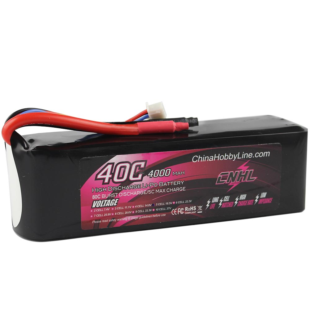 CNHL LI-PO 4000mAh 18.5V 40C(Max 80C) 5S Lipo Battery Pack for RC Hobby free shipping цена
