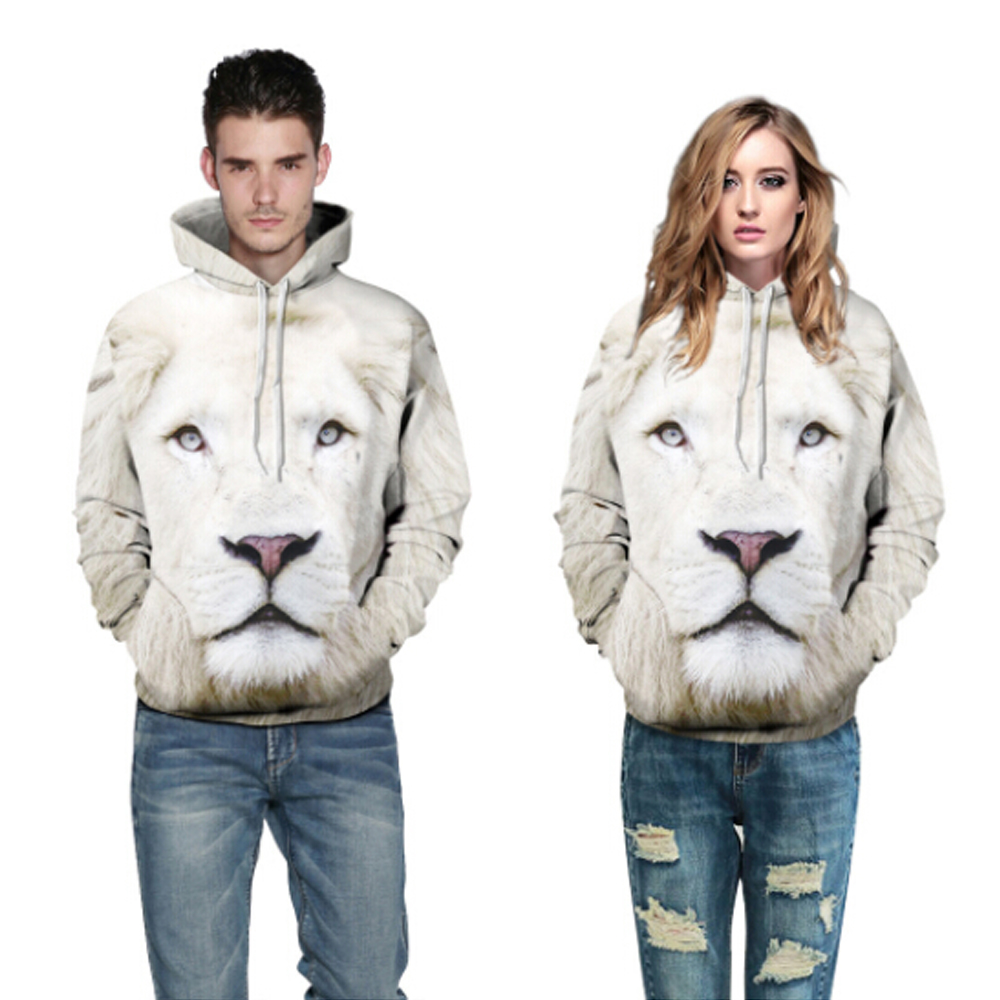 Fashion lion hooded shirts women men printed 3d hoodies Casual graphic hoodie funny Sweat shirt tie-dye Sweatshirt tops S-5XL
