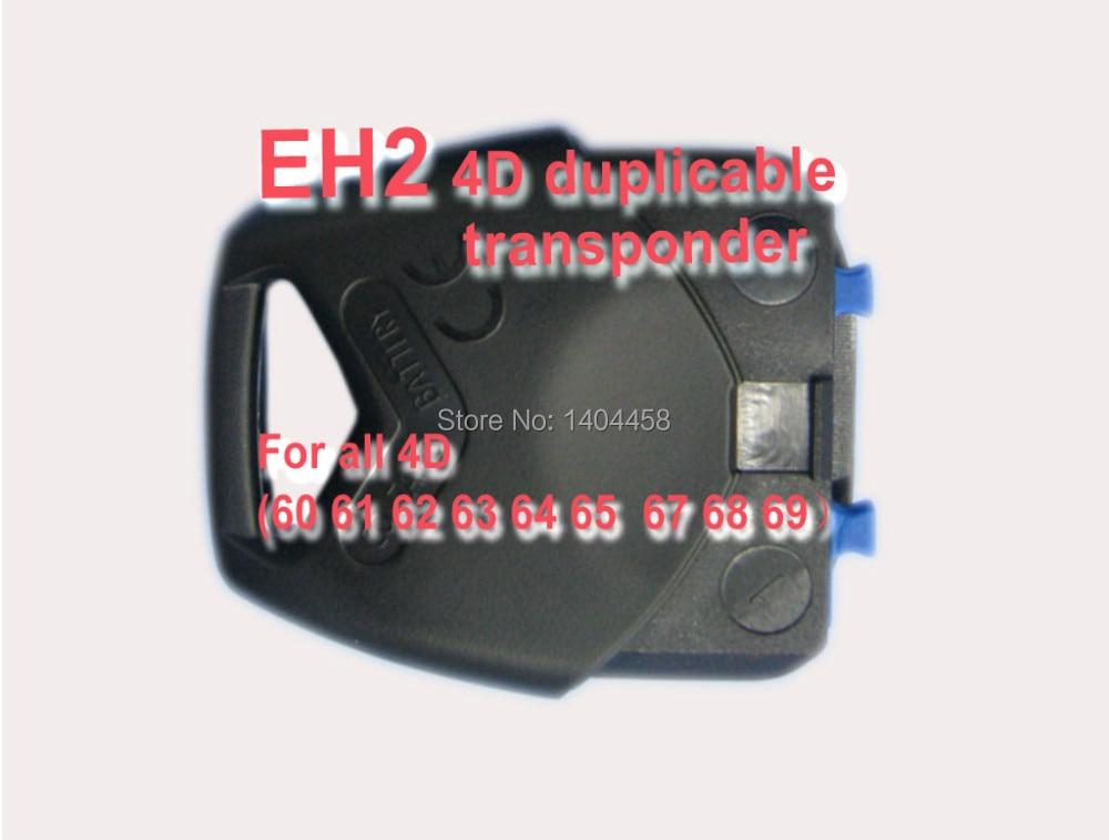 Envío libre, EH2 4D Cabeza Duplicable transpondedor chip de Electrones, EH2 Llav