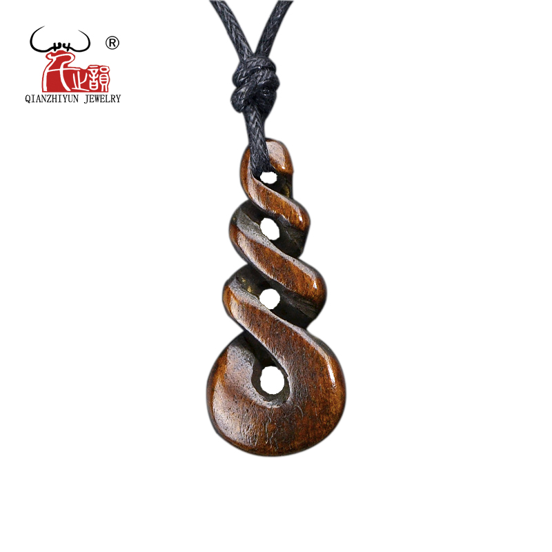 1 adet sıcak satış yeni zelanda maori el yapımı oyma kemik kolye - Kostüm mücevherat - Fotoğraf 4