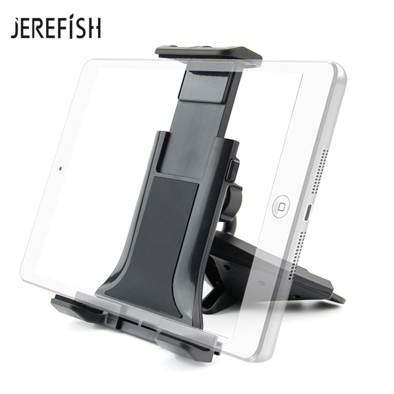 2 In 1 Universal Car Mount CD Slot Tablet Car Mount For 4-11 Inch Android Tablet IPad Sturdy CD Player Cell Phone Holder