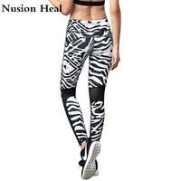 NUSION HEILEN Frauen Laufhose Hosen Gedruckt Fitness Yoga Sport Leggings Für Frauen Sport Engen Maschen Yoga Leggings Pants