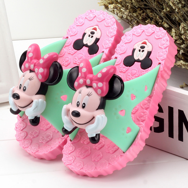 NEW Little Kids Slippers Girls Boys flip flop Toddler Baby Slippers Big Children Cartoon Mickey&minne School Indoor Garden Shoes