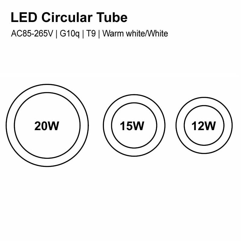 12W 15W 20W Led Lamp Tube AC85 265V G10q Led Tube 2835 T9 LED Circular Tube LED circle Ring lamp bulb light with Metal radiator