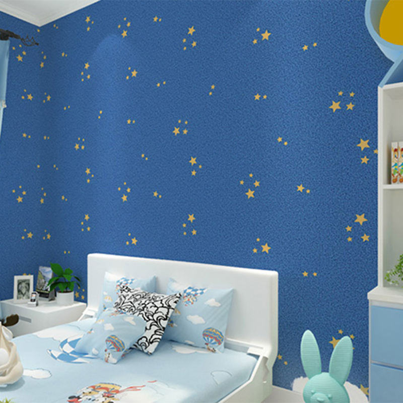 Aliexpresscom Buy Blue Cartoon Star Wallpaper Bedroom Children