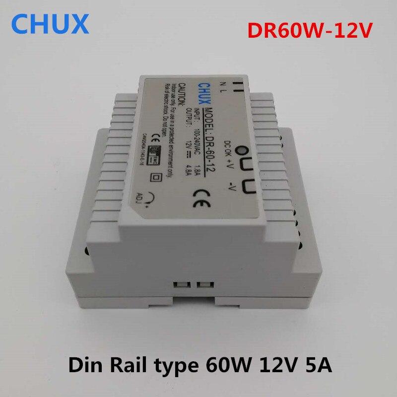 ᗕ60 Вт 12 В Импульсные блоки питания Din рейку Тип DR60W ...