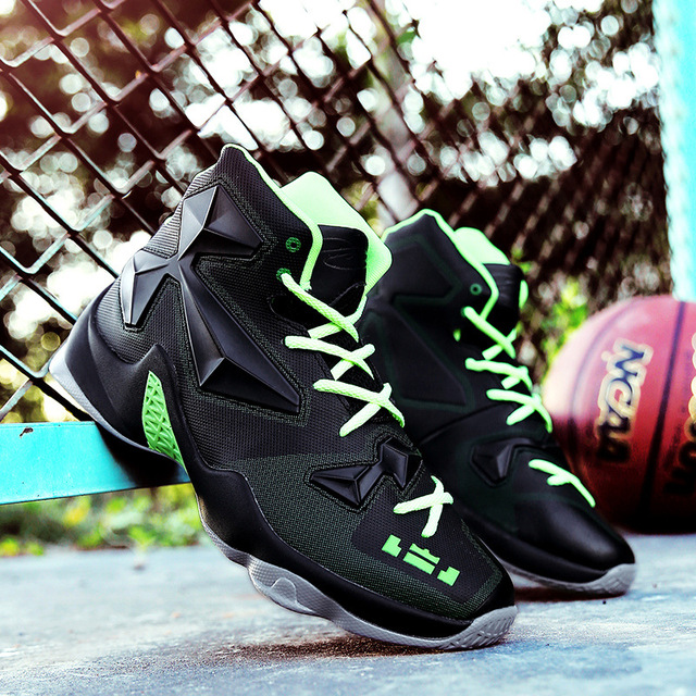 Original Newest Basketball Shoes Men s Women s Zapatillas High-top Rubber  Men Outdoor Sneakers New 2017 Free Shipping 5f17792717
