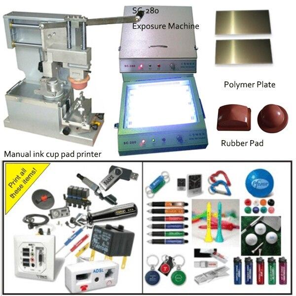 Рука ручки принтер пусковой площадки с чашкой чернил и аксессуары, тампопечати, машины цене