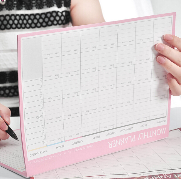 monthly organiser planner desk business schedule to do list for