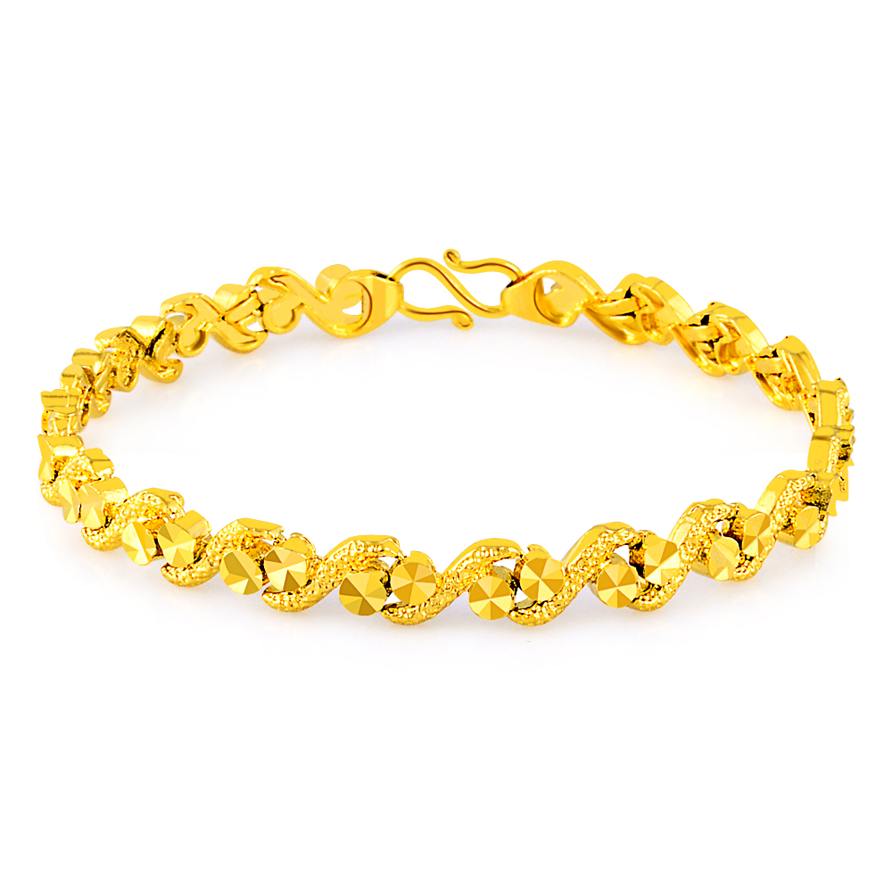 design wedding pure unique new bracelet for luxury jewelry in style link bangles gold item bracelets chain color gp women girls