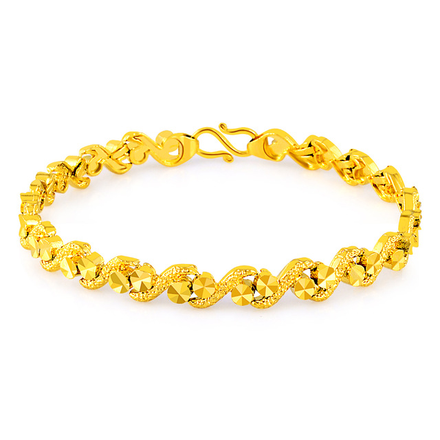 6e03e657c New Style pure Gold Color Bracelets & Bangles For Girls / women,24k GP  Unique